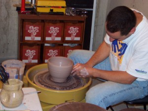 Shaping the bowl