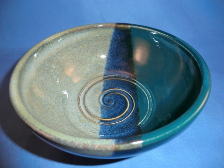 Float blue and emerald bowl